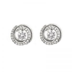 Diamond round Earring