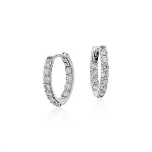 Diamond Round Earrings
