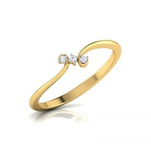 Twisted Gold Diamond Ring